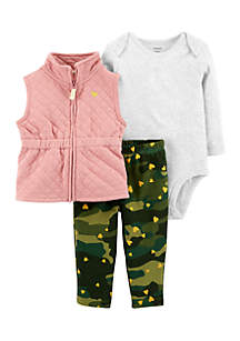Girls Infant 3-Piece Little Vest Set