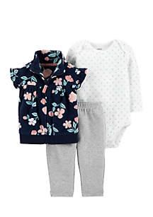 Infant Girls 3-Piece Little Vest Set
