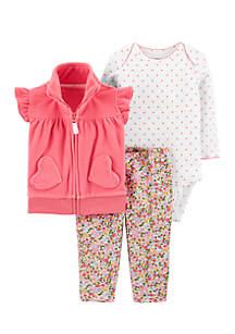 Girls Infant 3-Piece Little Vest Set
