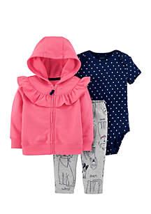 Infant Girls 3-Piece Little Jacket Set
