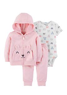 Infant Girls 3-Piece Mouse Little Jacket Set