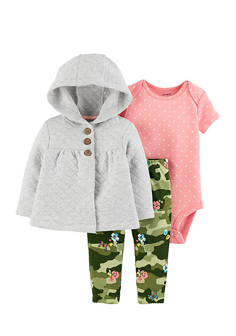 Carter's® Infant Girls 3-Piece Little Jacket Set