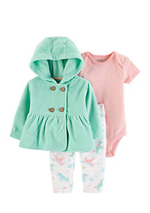Infant Girls 3-Piece Little Jacket Set