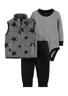 Baby Boys Star Little Vest Set