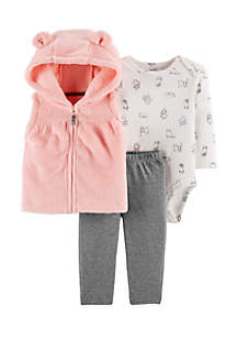 Infant Girls 3-Piece Little Vest Set