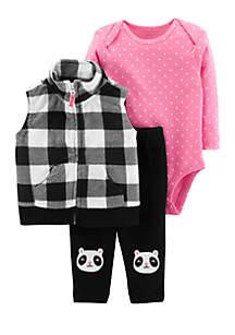 Baby Girls Little Vest Set