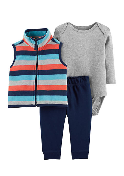 Carter's® Infant Boys 3-Piece Little Vest Set