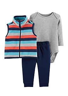 Infant Boys 3-Piece Little Vest Set