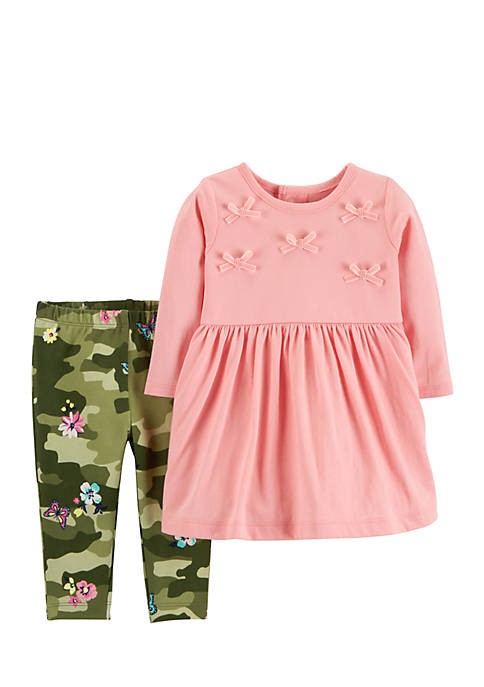 Carter's® Infant Girls 2-Piece Dress & Leggings Set