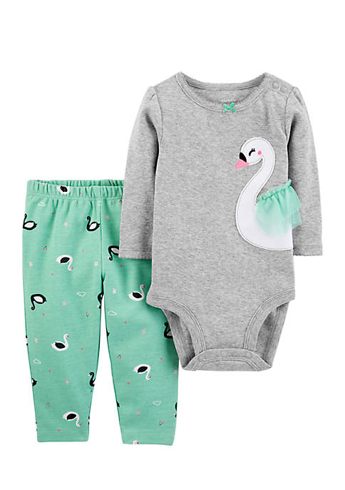 Carter's® Infant Girls 2-Piece Bodysuit Pants Set