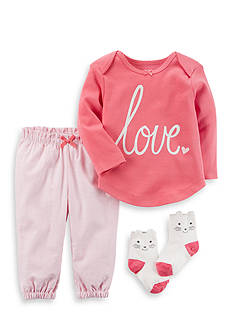 Carter's® 3-Piece Babysoft Tee and Pants Set