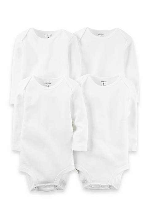 Carter's® 4-Pack Long Sleeve Original Bodysuits