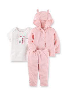 Carter's® 3-Piece Heathered Little Jacket Set