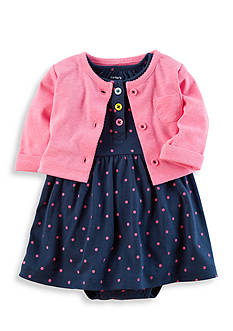 Carter's® 2-Piece Babysoft Bodysuit Dress and Cardigan Set