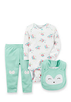Carter's® 3-Piece Owl Bodysuit, Bib and Pant Set