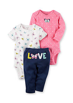 Carter's® 3-Piece Butterfly Bodysuits and Pant Set