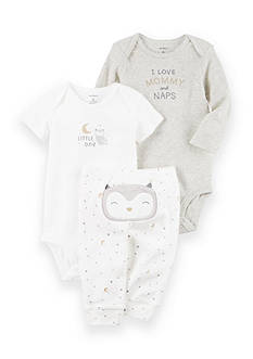 Carter's® 3-Piece Night Owl Bodysuits and Pant Set