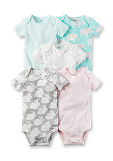 Carter's® 5-Pack Prints and Stripes Bodysuits