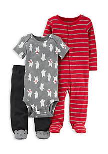 5c196defd Carter s® 3-Piece Bear PJ Set Boys Newborn