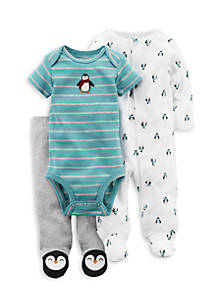 7a8671a8ba30 Carter s® 3-Piece Penguin PJ Set Boys Newborn