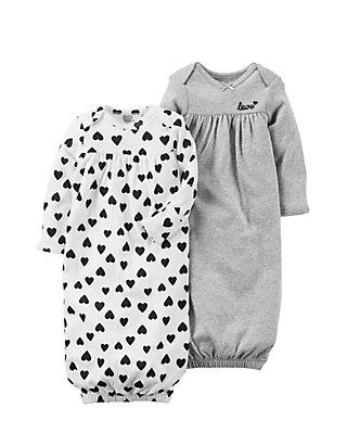 486caab7eeee Carter's® Girls Infant 2-Pack Babysoft Sleeper Gowns | belk
