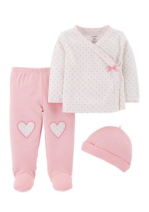 Carter's® Girls Infant 3-Piece Footed Pants Set