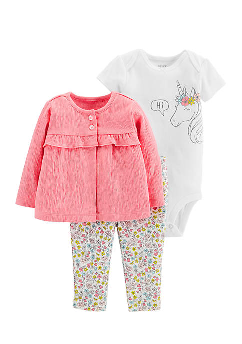Carter's® Girls Infant 3-Piece Little Cardigan Set