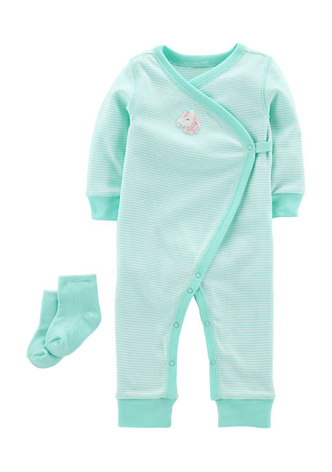 Carter's® 2-Piece Jumpsuit and Socks Set Infant Girls