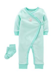 2-Piece Jumpsuit and Socks Set Infant Girls