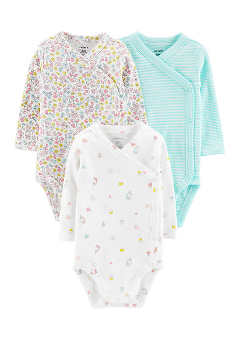 Carter's® Girls Infant Set of 3 Side-Snap Bodysuits