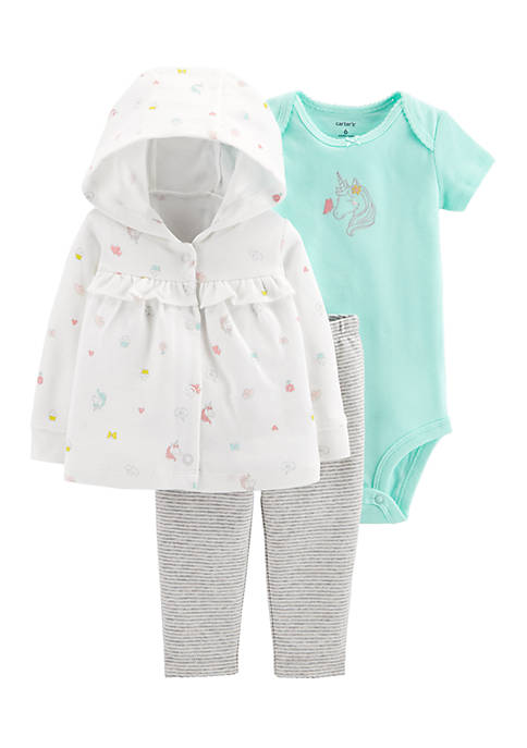 Carter's® Girls Newborn 3-Piece Little Cardigan Set