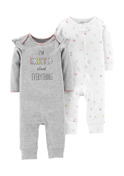 Carter's® Girls Infant Set of 2 Jumpsuits