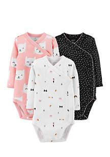 Girls Infant 3-Pack Side-Snap Bodysuits
