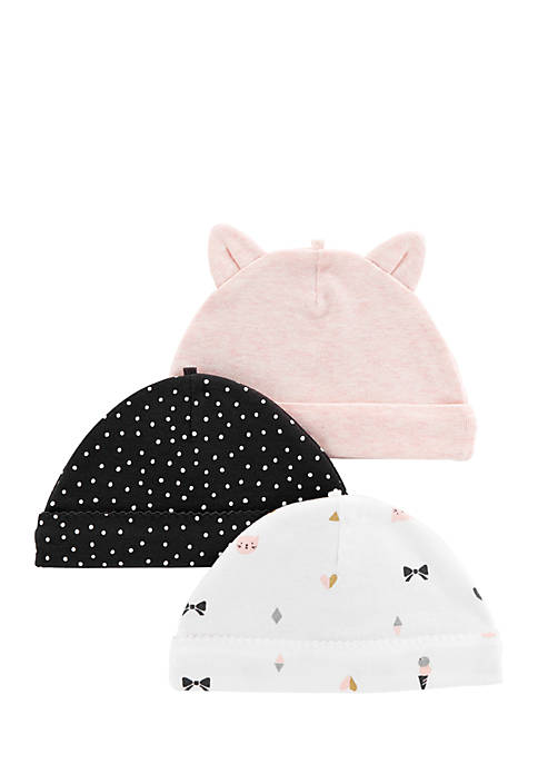Carter's® 3-Pack Caps Infant Girls
