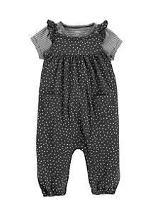 Infant Girls 2-Piece Babysoft Coveralls