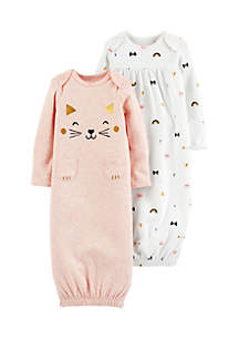 Infant Girls 2-Pack Babysoft Sleeper Gowns
