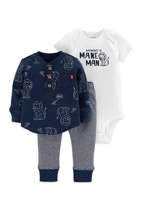 Carter's® 3-Piece Lion Bodysuit And Tee Set Infant