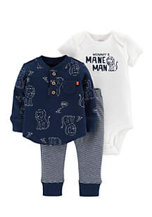 3-Piece Lion Bodysuit And Tee Set Infant Boys