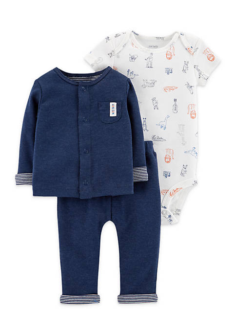 Carter's® 3-Piece Little Cardigan Set Infant Boys