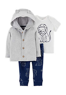 3-Piece Button-Front Cardigan Set Infant Boys