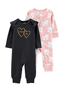 Girls Infant 2-pack Jumpsuits