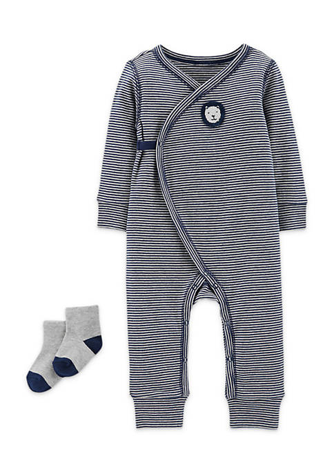 Carter's® 2-Piece Jumpsuit And Socks Set Boys Infant