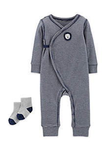 2-Piece Jumpsuit And Socks Set Boys Infant