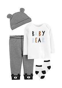 Boys Newborn 4-Piece Babysoft Take-Me-Home Set
