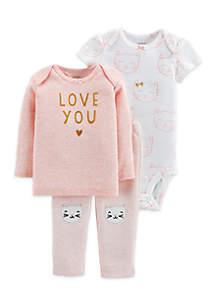 3-Piece Little Character Set Infant Girls