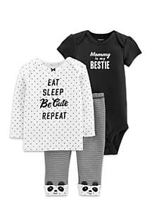 3-Piece Little Character Set Newborn Girls