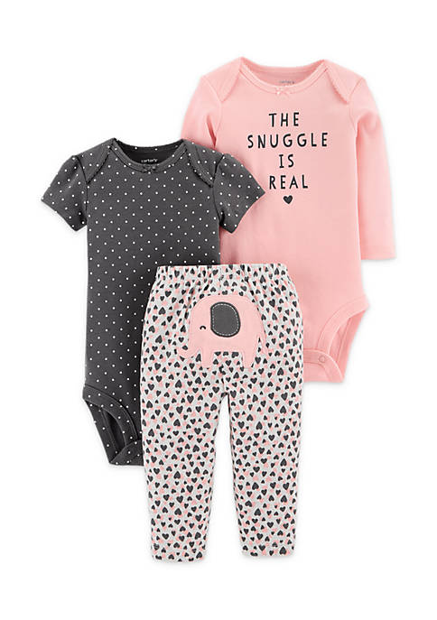 Carter's® Baby Girls 3-Piece Little Character Set