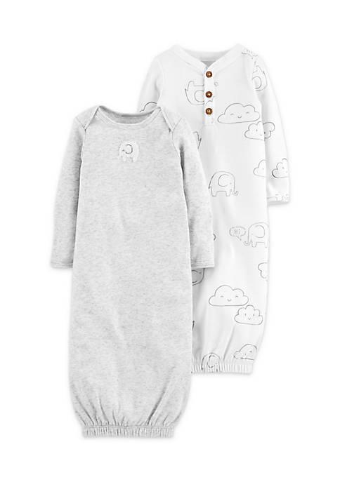 Carter\'s® 2-Pack Babysoft Sleeper Gowns Newborn Boys | belk