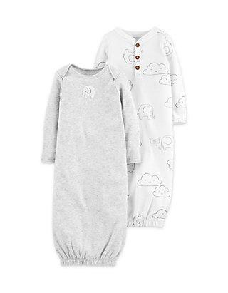 21edc8681 Carter's® 2-Pack Babysoft Sleeper Gowns Newborn Boys | belk