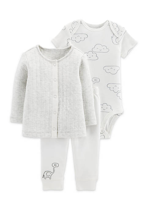 Carter's® Boys Infant 3-Piece Little Cardigan Set
